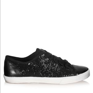 Kurt Geiger Black Glitter Sneakers,Worn once 7 1/2